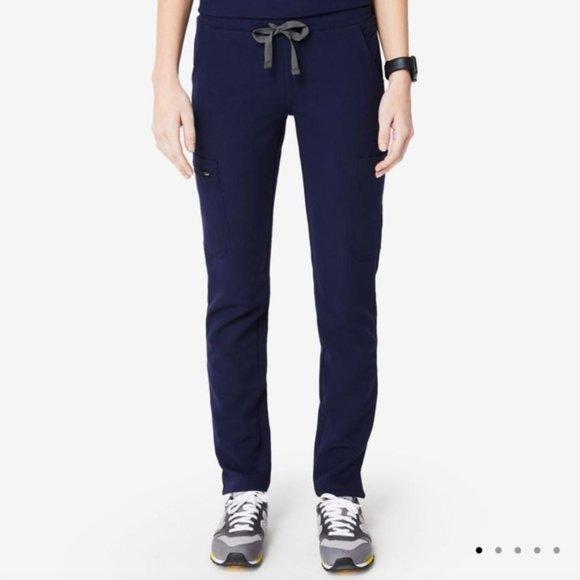 New Navy FIGS Yola Skinny Scrub Pants M NWT